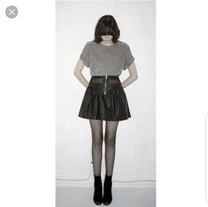 NOMIA/barneys coated linen mesh insert mini skirt
